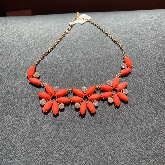 Icing Jewelry - coral statement necklace - icing by claire's